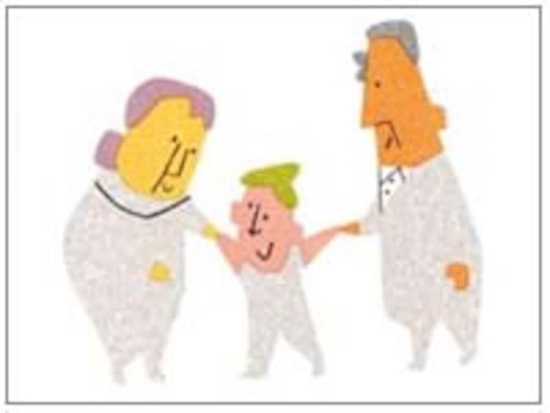 孫と祖父母イメージ