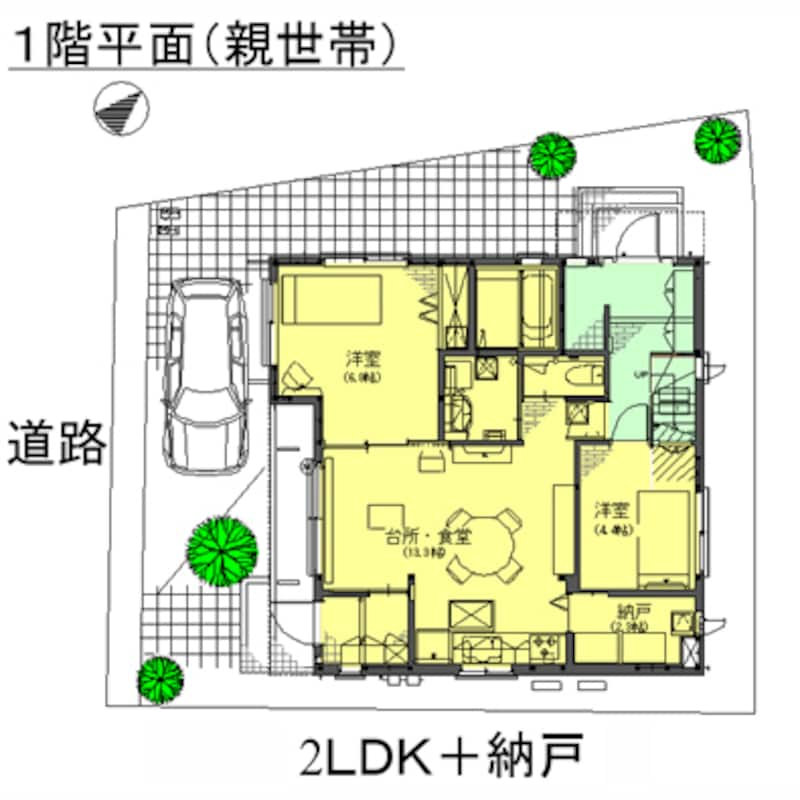 平面図/1階・親世帯
