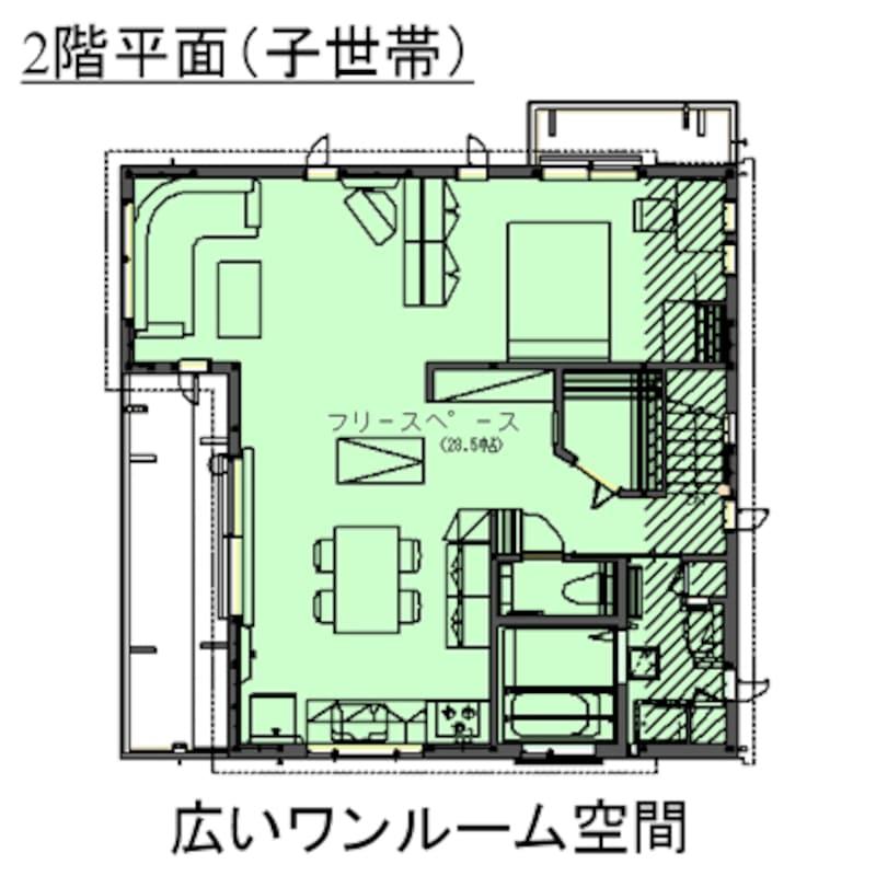平面図/2階・子世帯