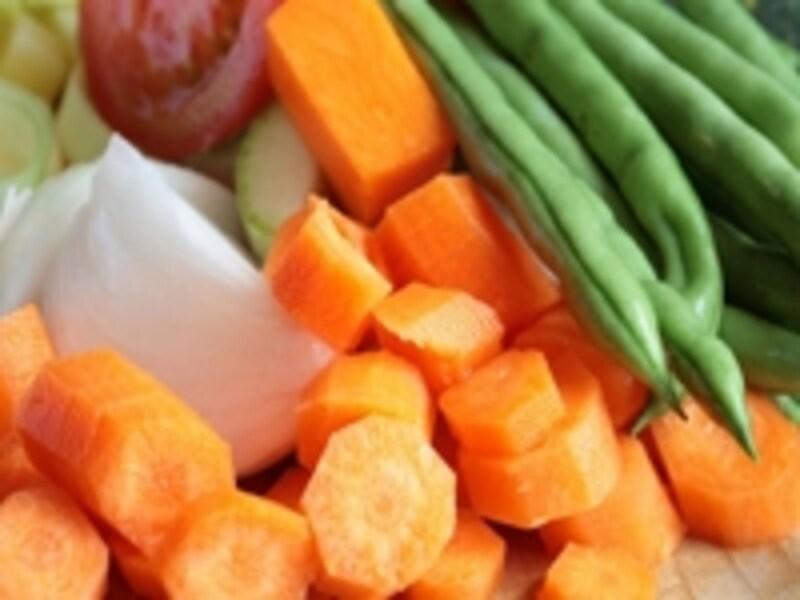色の濃い野菜をたっぷりと摂るのが、上手なビタミンA摂取の秘訣!
