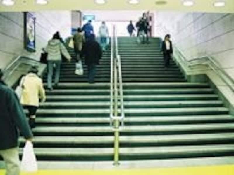 階段を使うと足が引き締まります