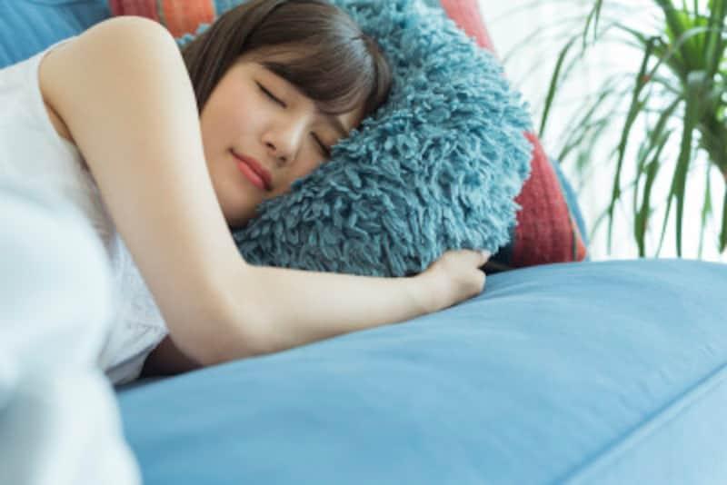 お昼寝には、枕を使いましょう