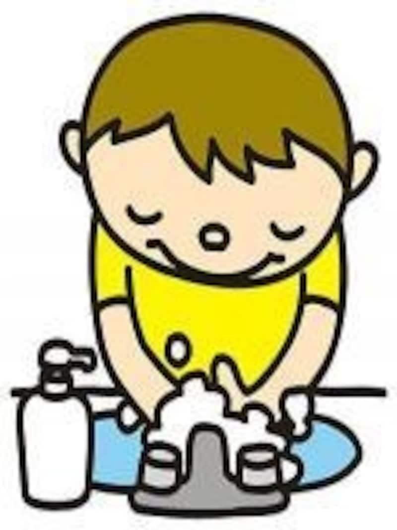 感染予防には、血液を洗い流す手洗いがとても重要です。