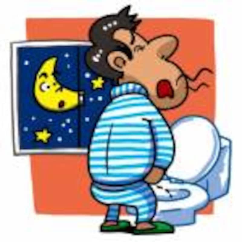 夜中に何回もトイレに起きる夜間頻尿