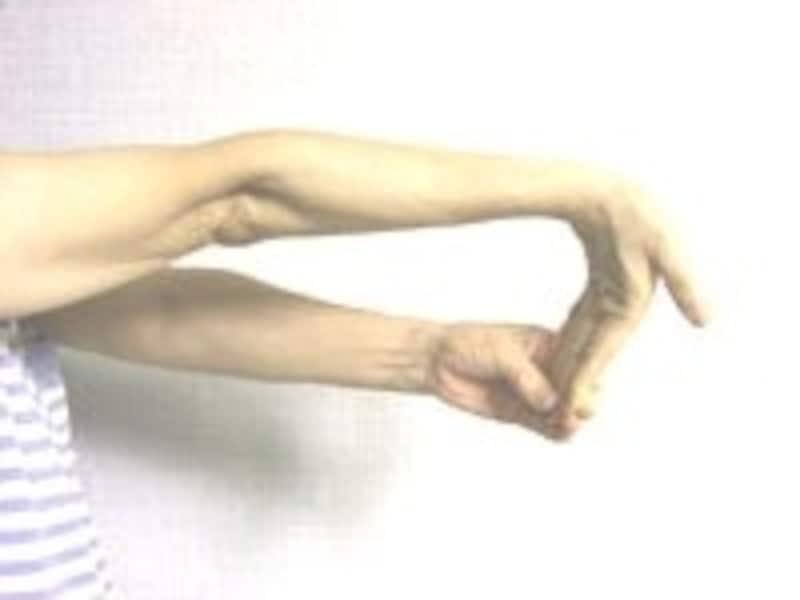 2.右手首を先ほどと反対側へ