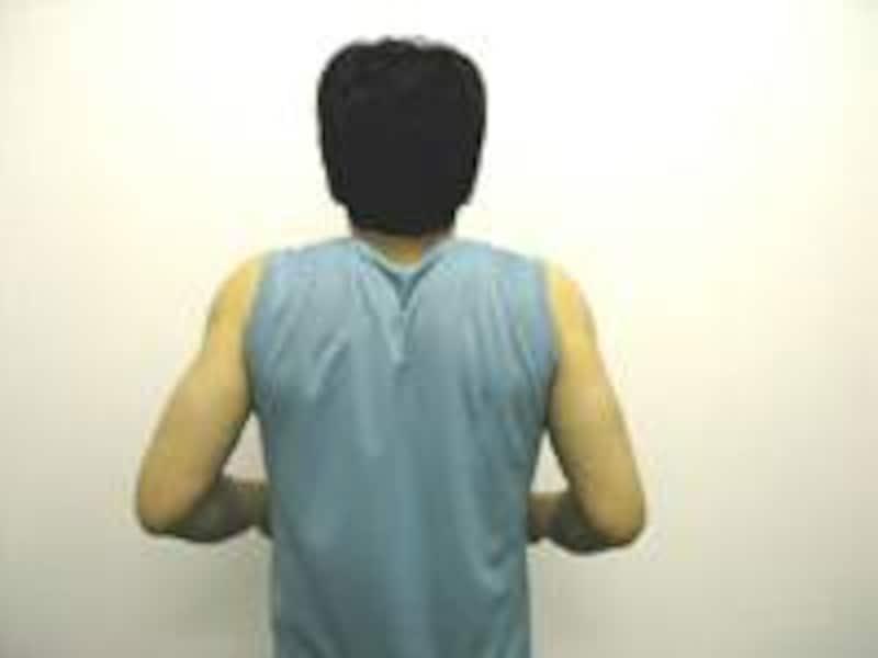 最後に両肩をグル~リ