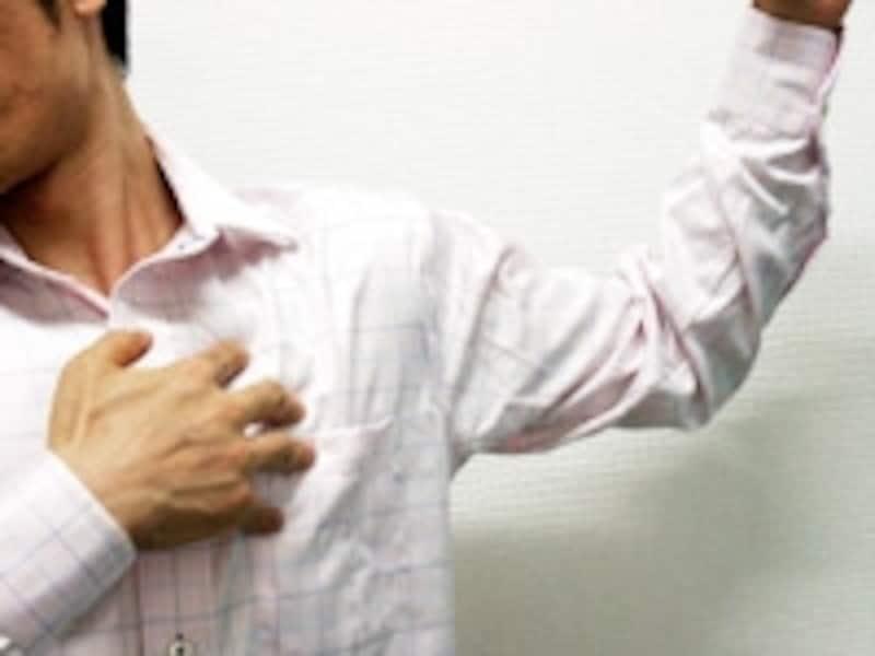 胸の筋肉をゆっくりストレッチしましょう