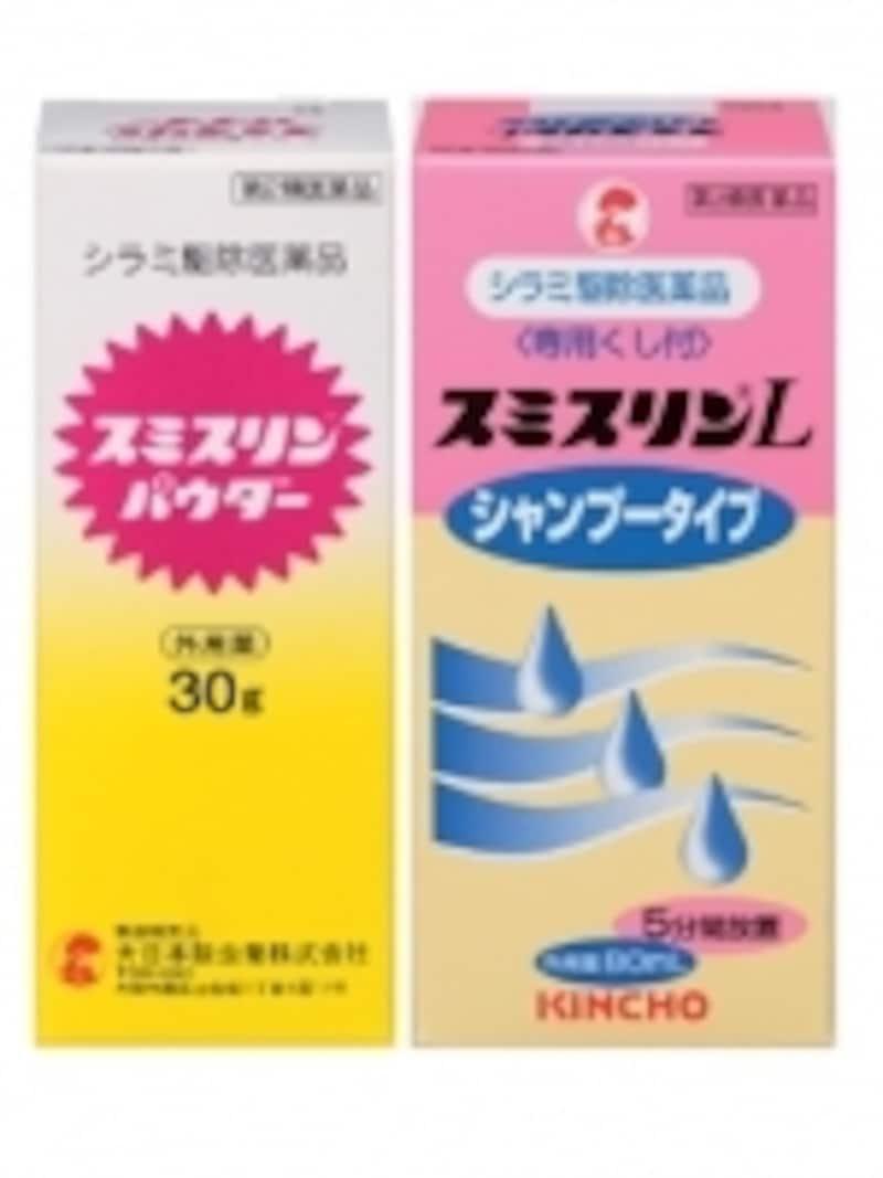 シラミ駆除薬で代表的なフェノトリン(スミスリン)。シャンプータイプとパウダータイプがある