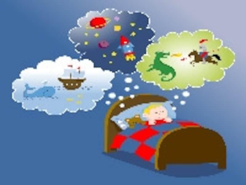 夢を見るレム睡眠の異常が原因です
