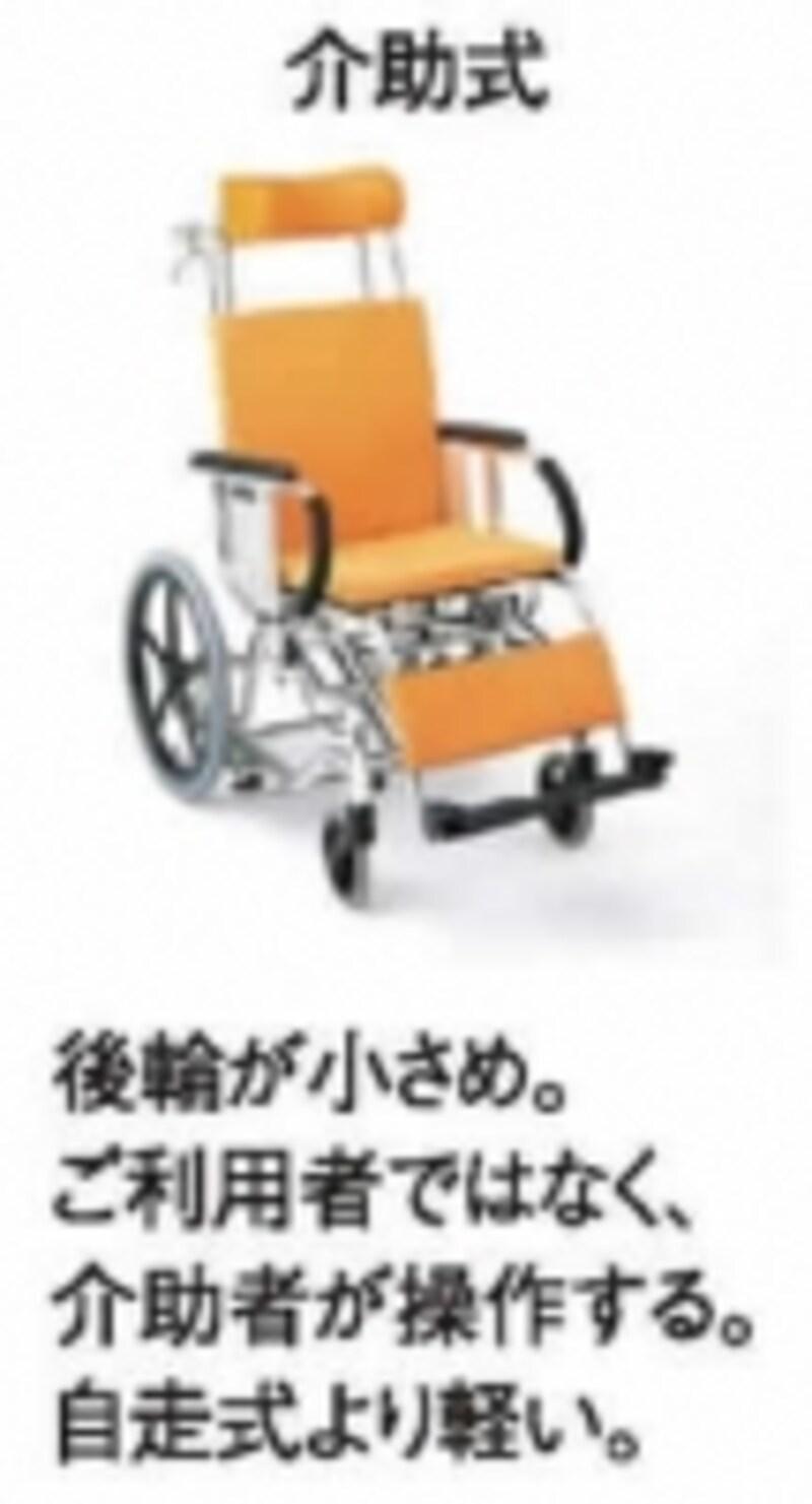介護者だけが車いすを操作する場合は、介助式を選びましょう
