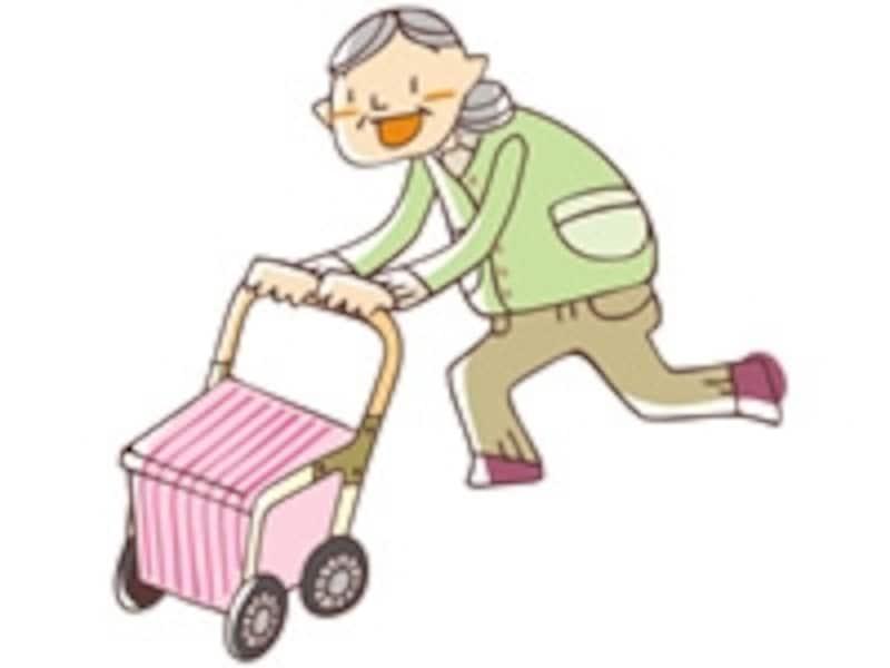 カゴ付きやバッグ付き、いす付きなど、シルバーカーにはさまざまな種類があります