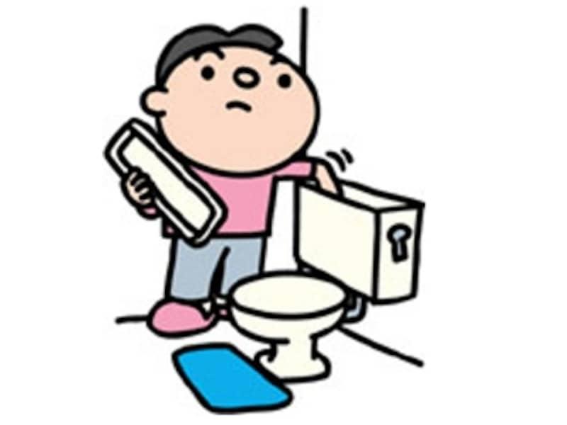 トイレ修理中