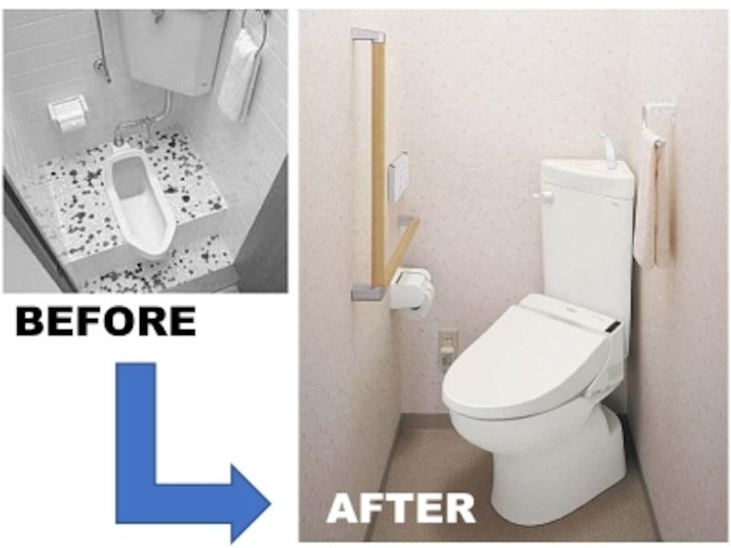 和式トイレを洋式トイレへリフォーム