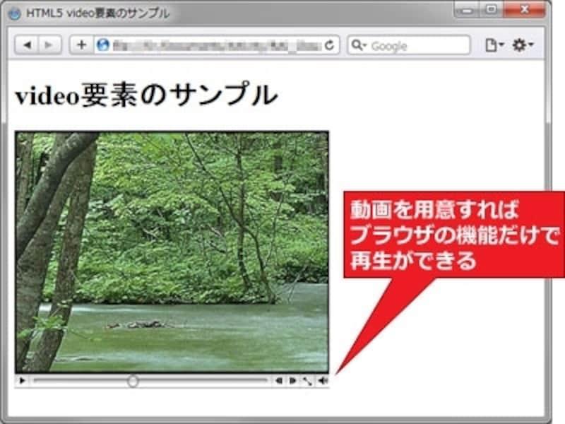プラグインを使わずに動画を再生できる