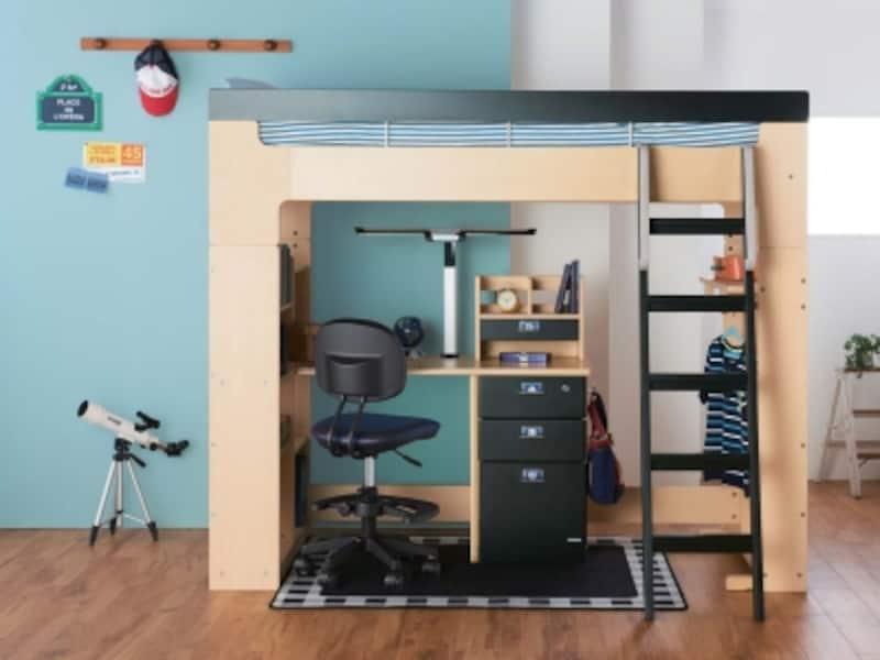 子供部屋ロフトベッド