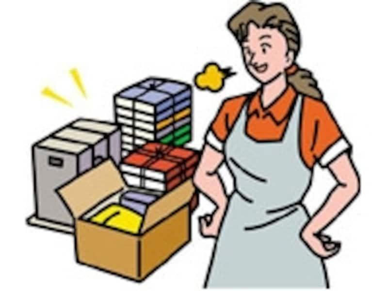 リフォーム工事開始前に、小物や食器はダンボール箱にまとめて他の部屋へ避難を。