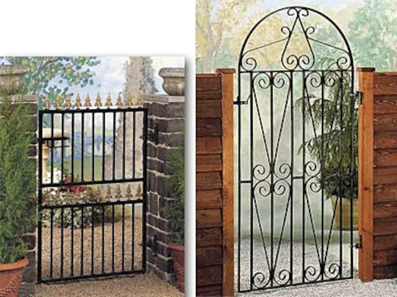 小さくても存在感があるので、片開きの門扉をセンスアップしてくれる(英国製CannockGates/HAYASE.com)