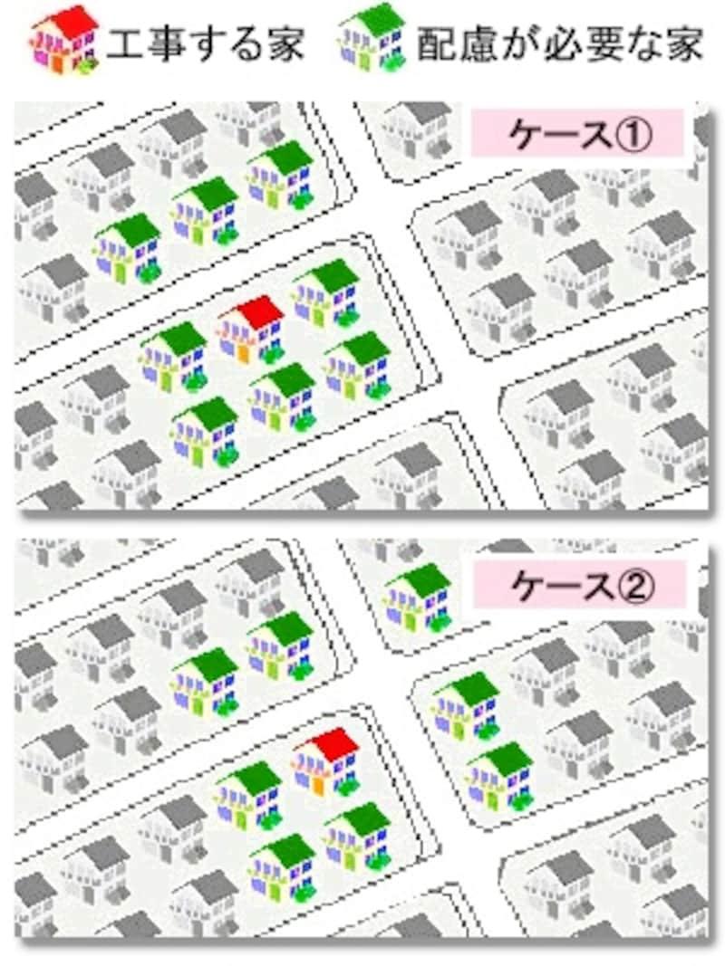 挨拶する家の図