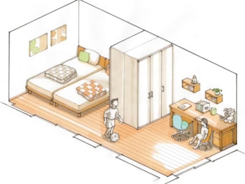 可動間仕切り家具事例