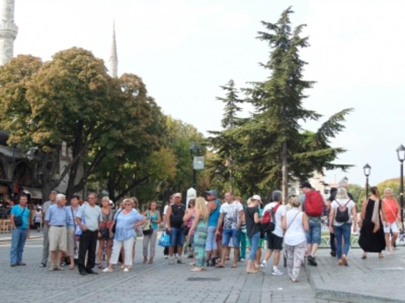 スルタンアフメットの外国人観光客