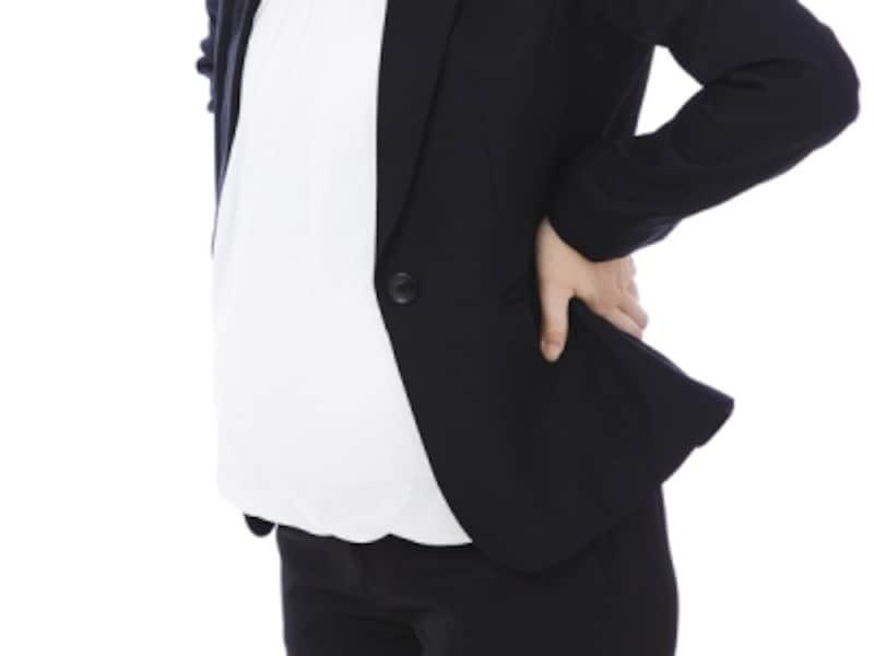 骨盤が出産に備えてゆるむだけでなく、骨盤が子宮の成長に合わせてバランスをとることから腰痛が起こりやすく
