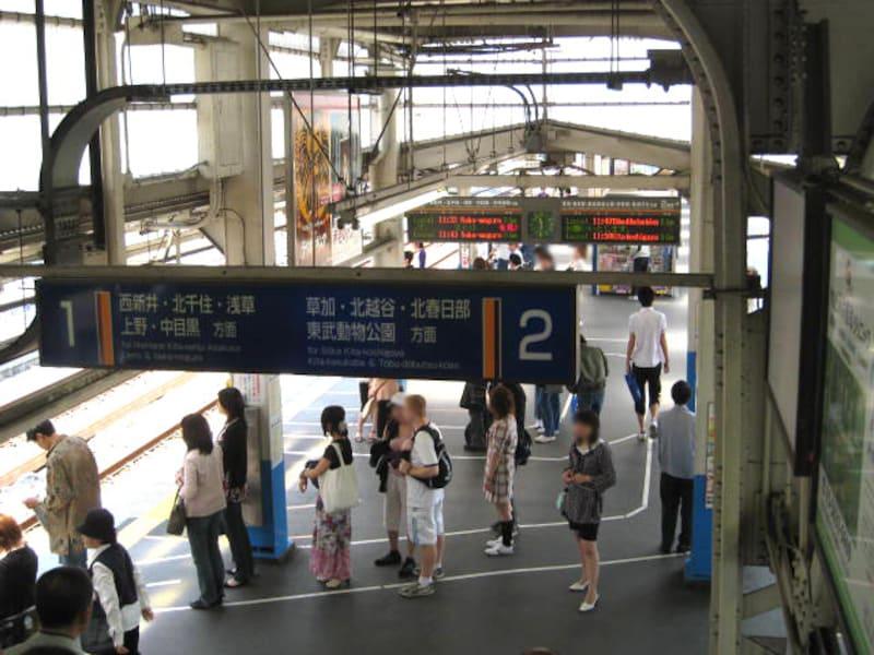 竹ノ塚駅ホーム