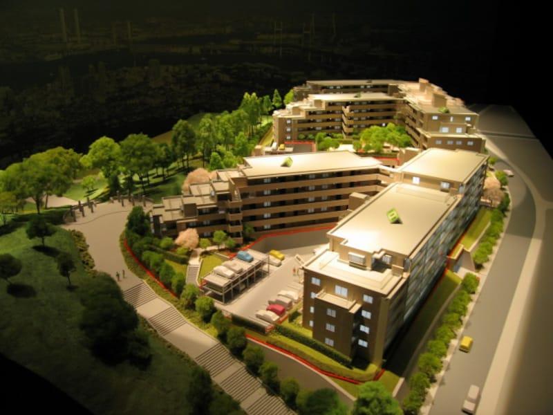 敷地全体の模型