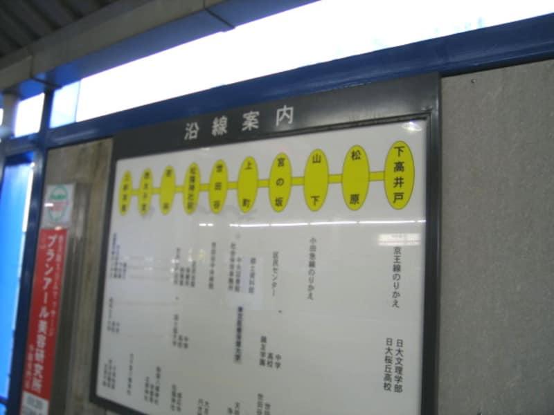 世田谷線案内図