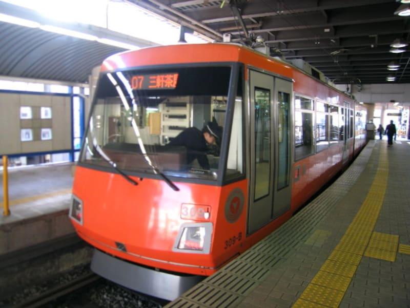 下高井戸駅構内の世田谷線