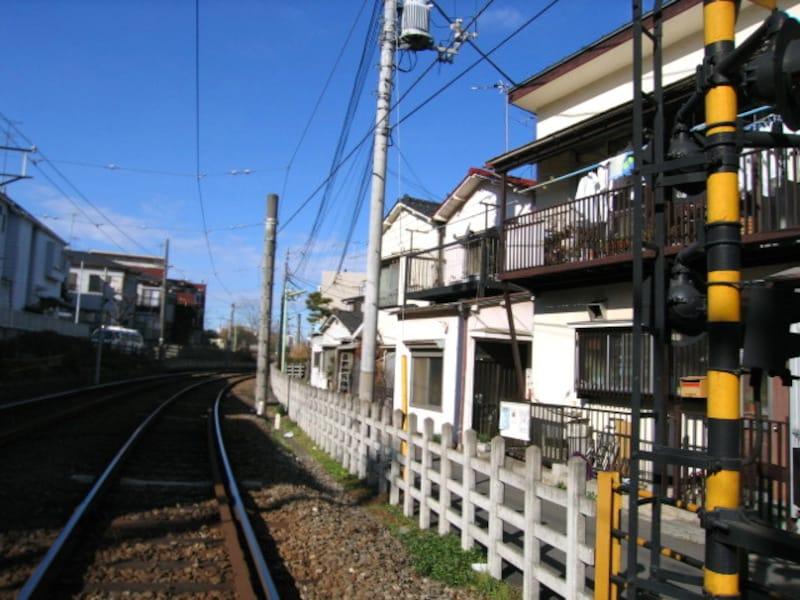 世田谷線線路沿い