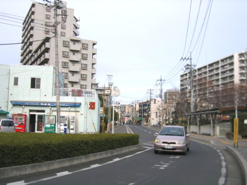 西口の住宅街