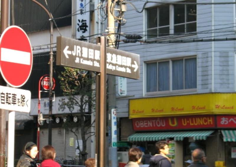 駅間の表示