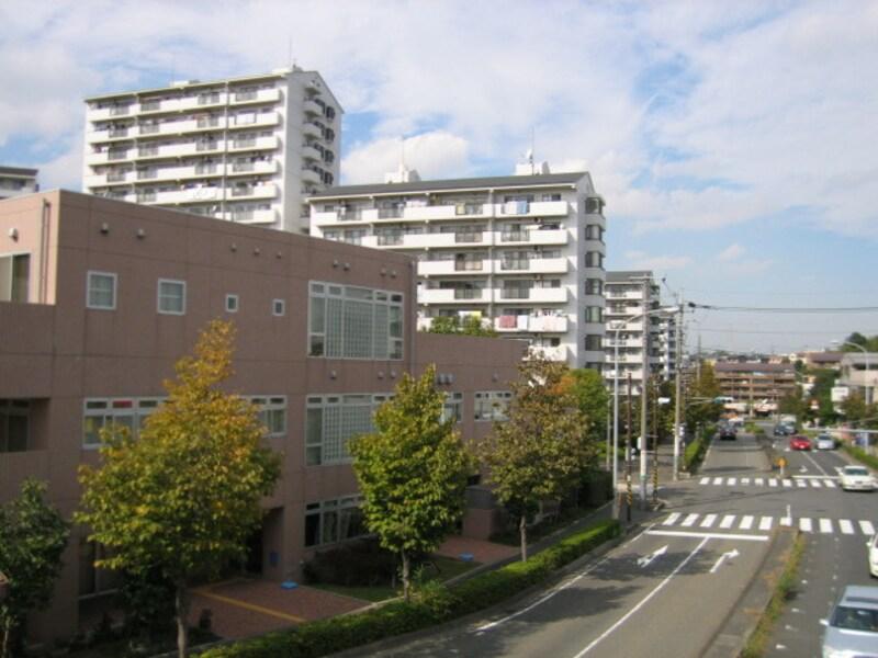 中川駅近くの通り