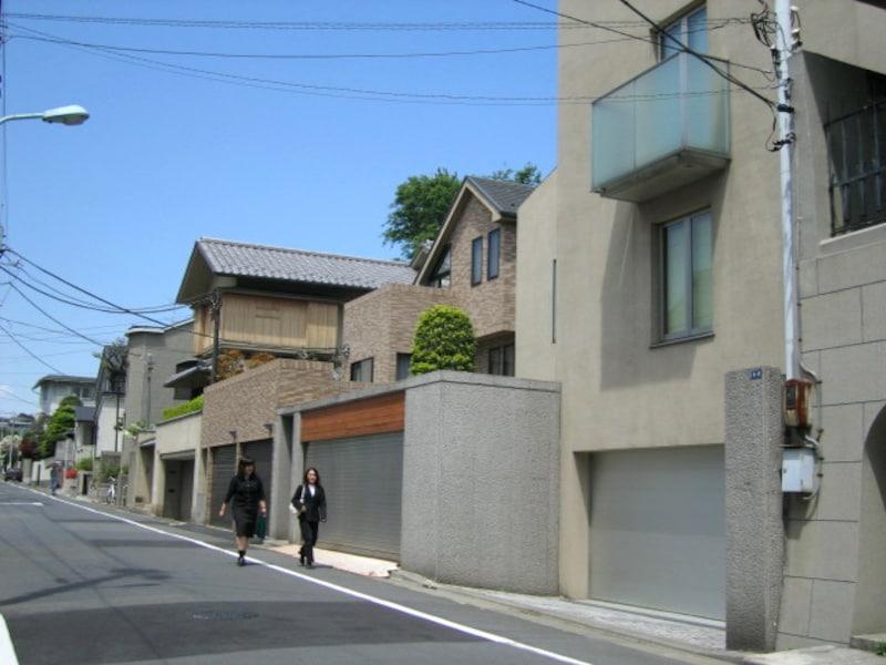 松涛周辺の住宅街