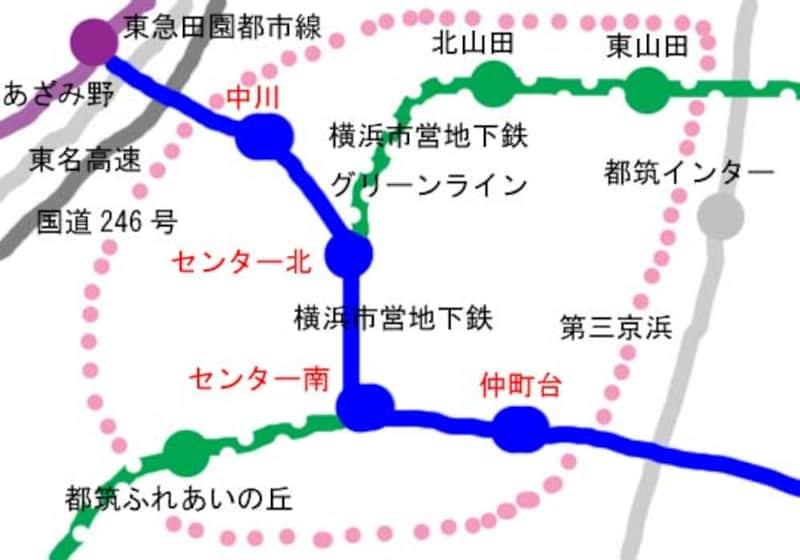 港北ニュータウン地図