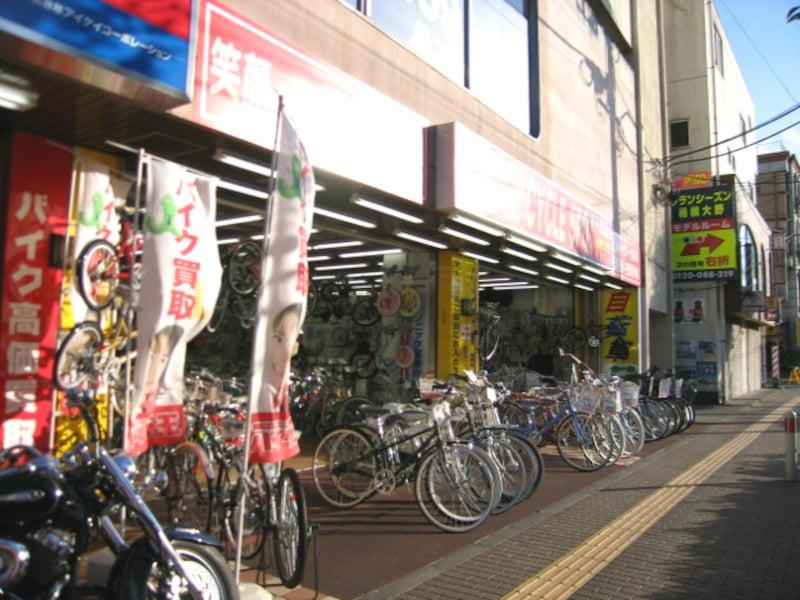 自転車屋さん店頭