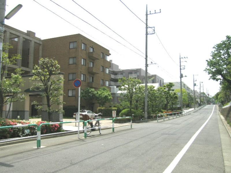 道の広い深沢の住宅街