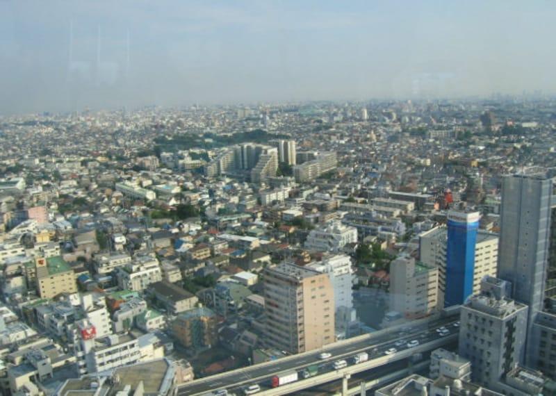 キャロットタワー展望台からの世田谷区の眺め