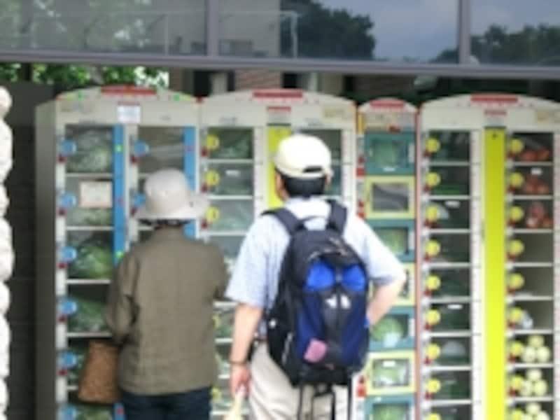二子玉川では住宅街の中に、野菜の直売所が点在する(写真は再開発以前)