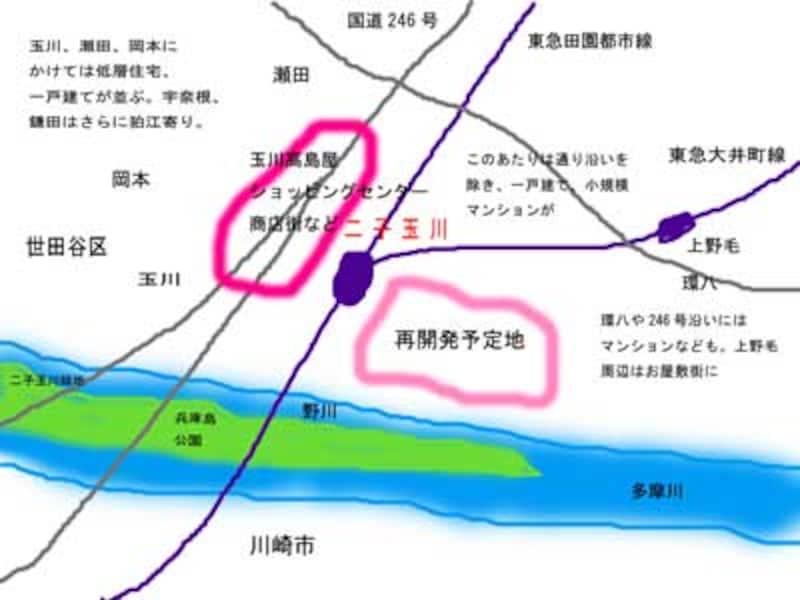 二子玉川周辺地図
