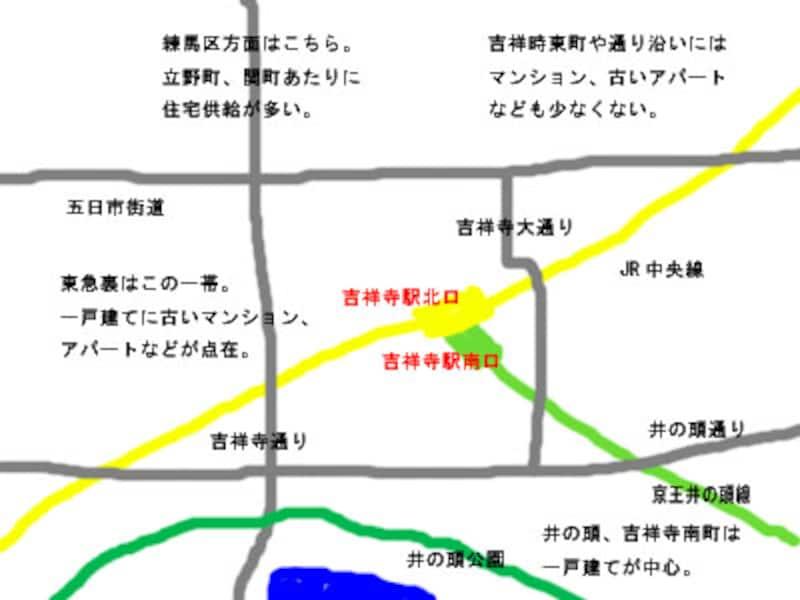 吉祥寺駅周辺地図