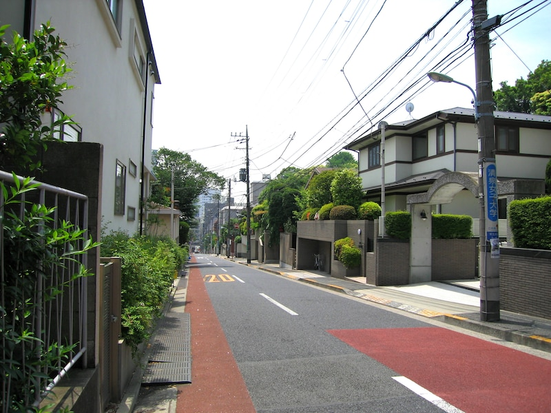 島津山の住宅街