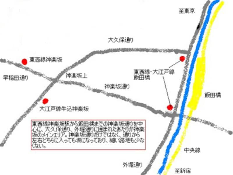 神楽坂周辺地図