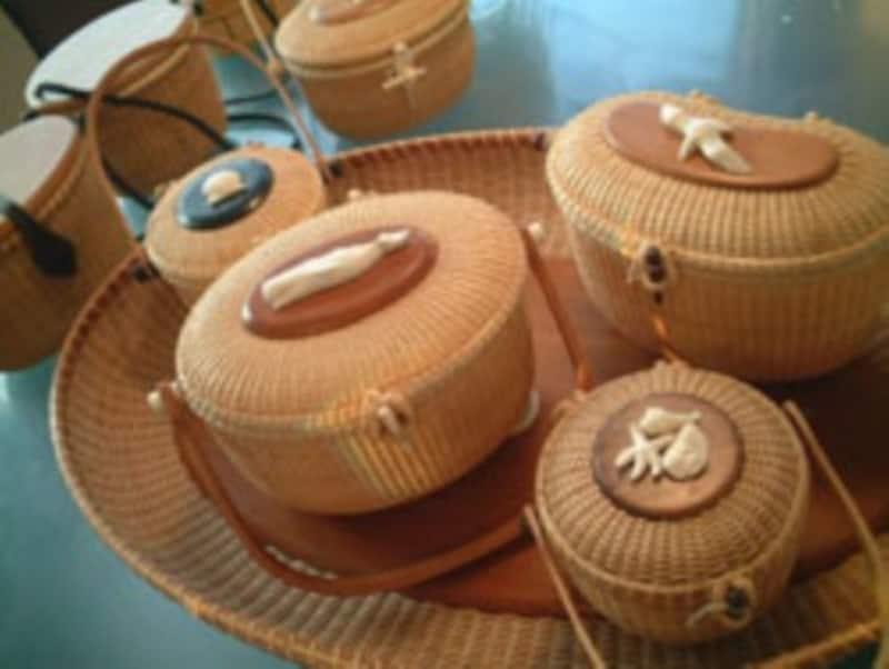 緻密な手仕事が施された伝統工芸品であるバスケット