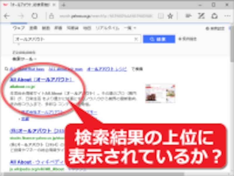 関連キーワードで検索された際に自サイトへ誘導できるかどうかは、検索結果の順位の影響が大きい