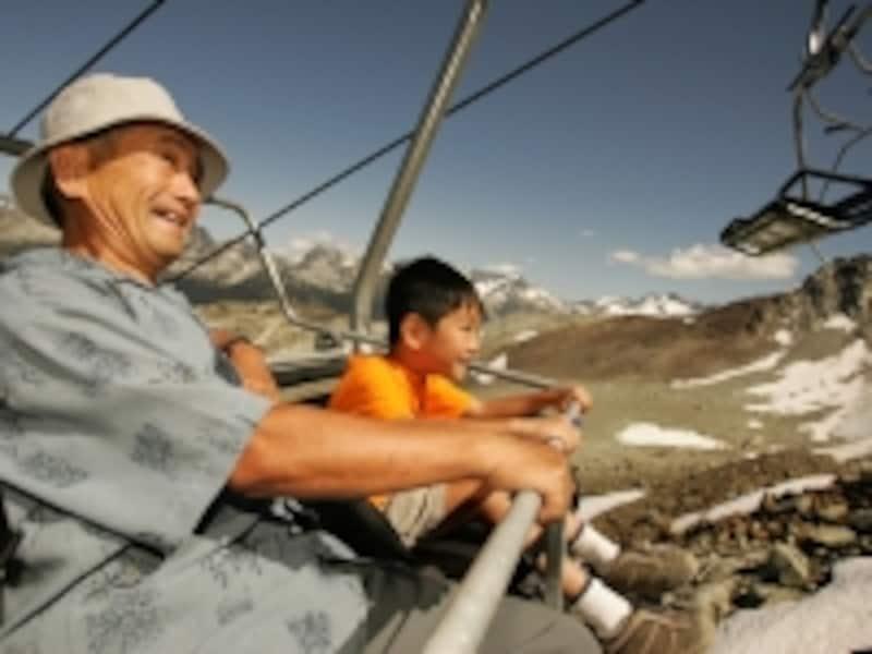 ウィスラー山頂へはリフトを使ってアクセスundefined(C)TourismBC