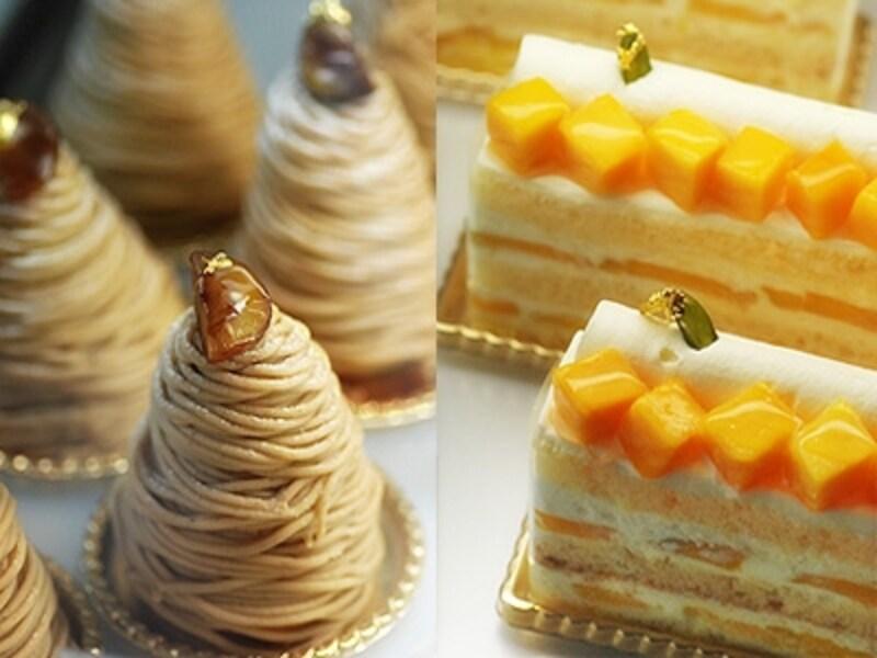 季節の果実の魅力をつめこんだフランス菓子の数々