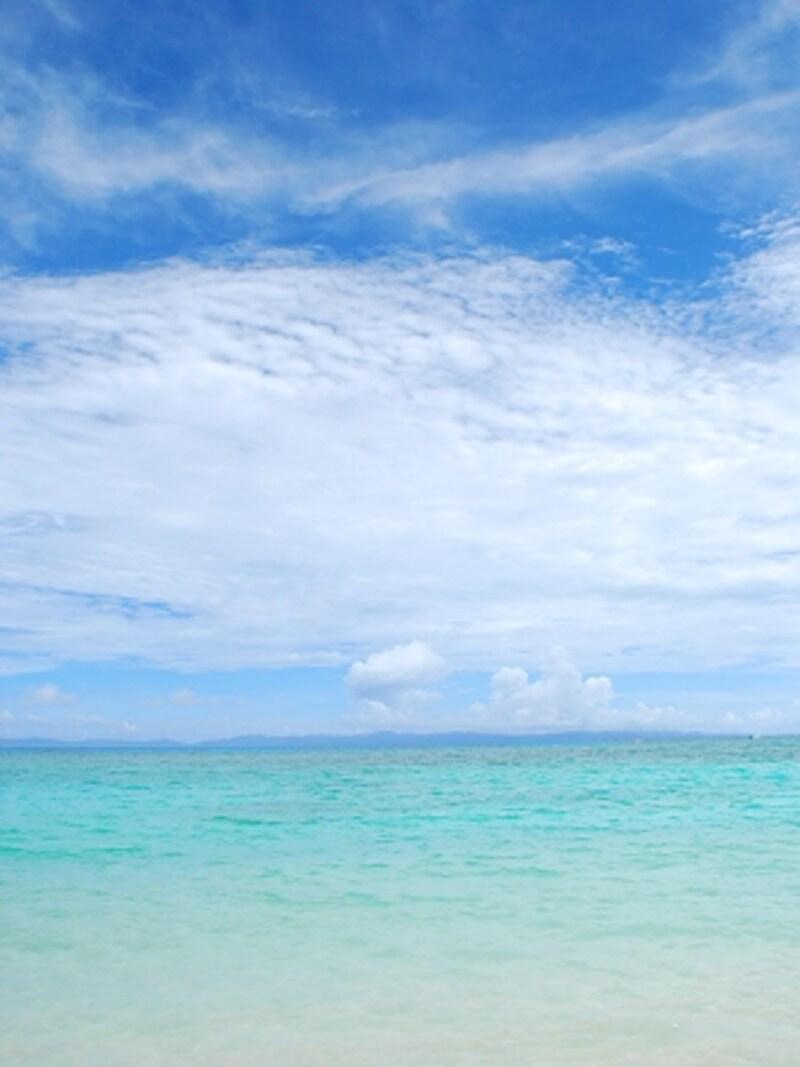 青空とニシ浜