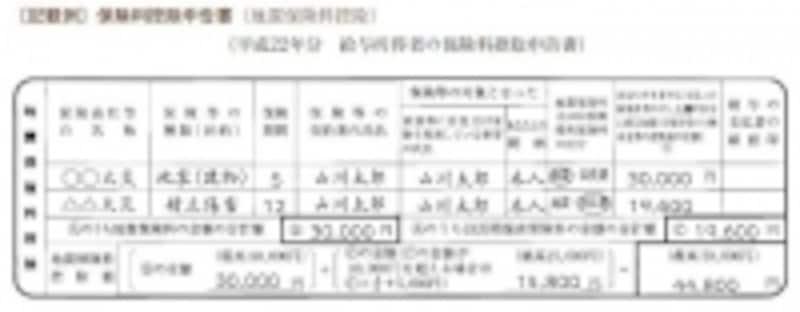 地震保険料控除の記載例(出典:国税庁年末調整のしかた)