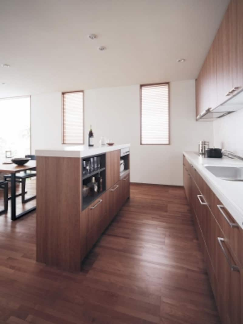 対面風スタイルのキッチン
